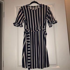 Maternity strip dress